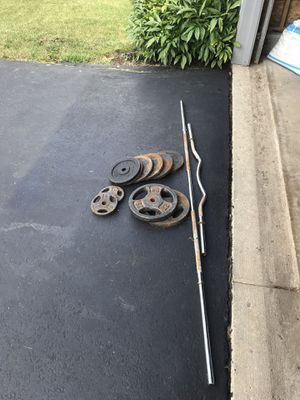 Lifting Bar and Exercise Weights *Reduced price* for Sale in Marysville, OH
