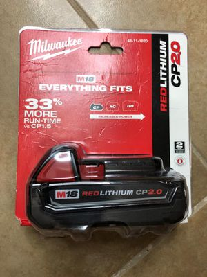 Milwaukee m18 battery for Sale in Dallas, TX