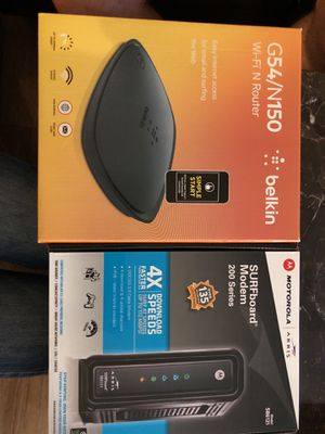WiFi and router for Sale in Lakewood, CO