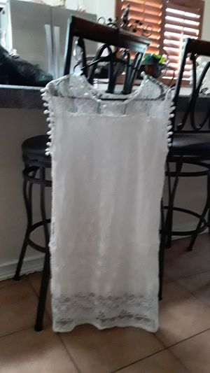 Free White lace dress. Never worn. No tags. Med/ Large for Sale in Winchester, CA