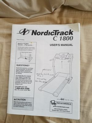 NordicTrack C 1800 treadmill for Sale in Fullerton, CA