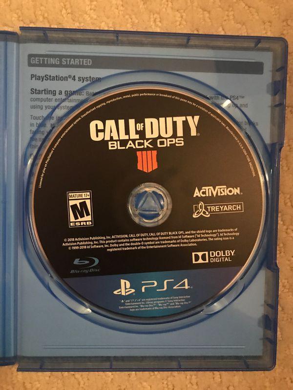 Call of Duty: BlackOps 4 - PS4