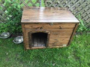 Dog house wood new 31 1/2 wide, 20 inch height for Sale in River Grove, IL