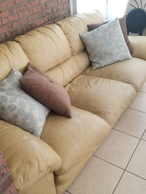 Large leather couch for Sale in Jacksonville, FL
