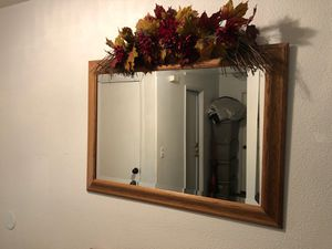 Large Oak mirror for Sale in Hanford, CA