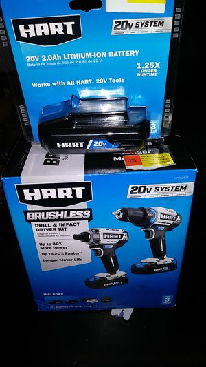HART BRUSHLESS DRILL & IMPACT KIT for Sale in Phoenix, AZ
