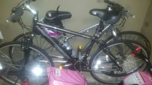 A man 26 Mountain bike with fork shocks a shock on the seat practically brand new for Sale in Baltimore, MD