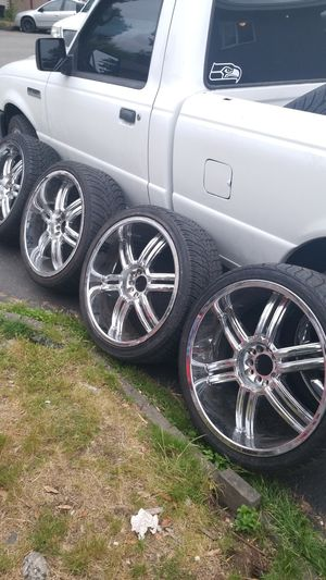 Chrome rims &tires for Sale in Kenmore, WA