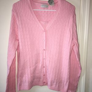 New NWT Womens Ladies Pastel Pink Cable Knit Cardigan Sweater & Tank Shell Set SZ Small 4-6 for Sale in El Mirage, AZ