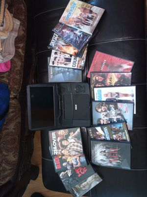Good portable DVD player with 15 brand new movies for Sale in Los Angeles, CA