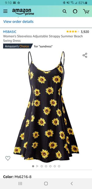 Women's Sleeveless Adjustable Strappy Summer Beach Swing Dress THIS IS BRAND NEW STILL IN PACKAGING, I WILL DELIVER AS WELL for Sale in Godfrey, IL