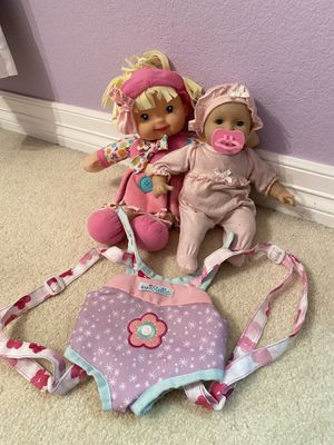 Baby, Doll, and toy baby carrier for Sale in Aurora, CO