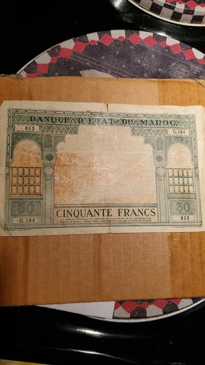 Banquet D'etat Du Maroc 1924. 50 Francs for Sale in Belleair, FL