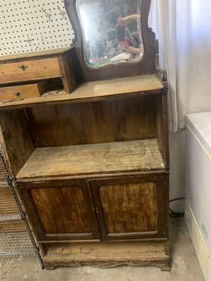 Antique Buffet Table W/ Mirror for Sale in Bonney Lake, WA