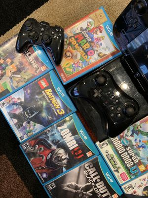 Wii U console with games for Sale in La Verne, CA