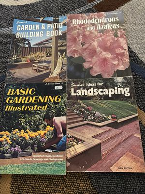 4 1970s Vintage Sunset Books Gardening Landscaping for Sale in Watsonville, CA
