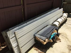 Garage doors 5 panels with rails & lift motor for Sale in Cary, NC