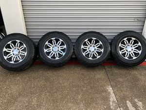 """17"""" black machined rims with tires for Sale in Fort Worth, TX"""
