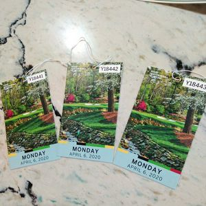 2020 Masters Tickets No Entry Collectors Item Only for Sale in Sacramento, CA
