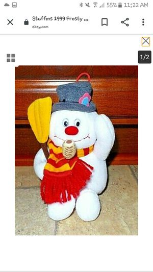Stuffins 1999 Frosty the Snowman Stuffed, Plush Doll Toy for Sale in Port Norris, NJ