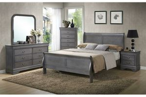 New! Grey 5pc Queen Bedroom Set for Sale in Odenton, MD