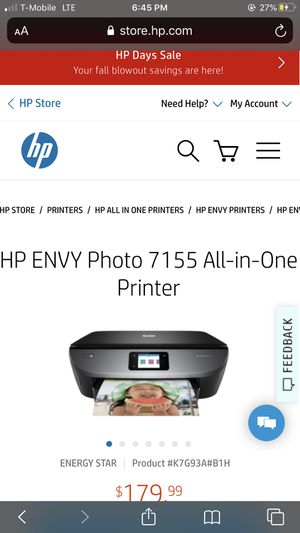 HP Photo Envy 7155 All-in-One Printer for Sale in Idaho Falls, ID