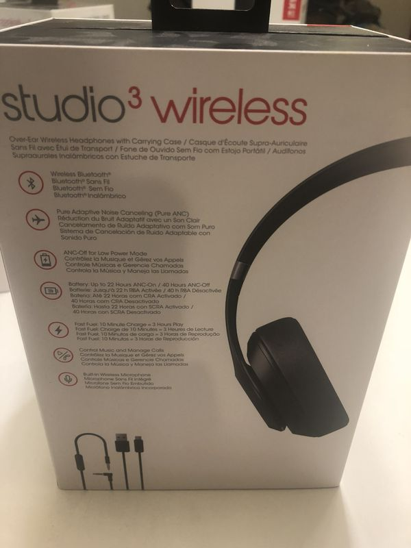 Beats Studio3 Wireless Headphones Black