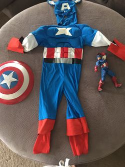 Captain America costume with bonus accessories for Sale in Turlock,  CA