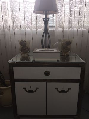Vintage cabinet, drawer, storage, decor, wood, white, table, stand for Sale in Grand Rapids, MI