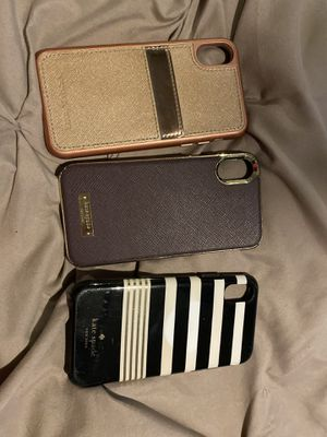 Lot of 3 iPhone X cases - 2 kate spade , 1 Michael Korda for Sale in West Palm Beach, FL