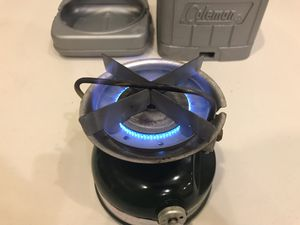 Coleman 508 Camp Cook Stove One Burner Duel Fuel Gas Liquid Gasoline for Sale in Georgetown, KY