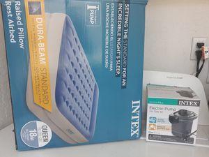 Intex air mattress and pump for Sale in Diamond Bar, CA