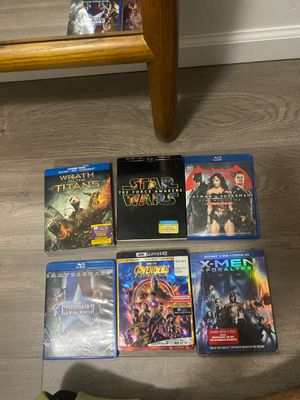 Blu Ray Marvel, Star Wars, X-men for Sale in Queens, NY