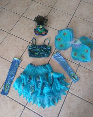 Girls stunning handmade peacock costume size 10/12 for Sale in Miami, FL