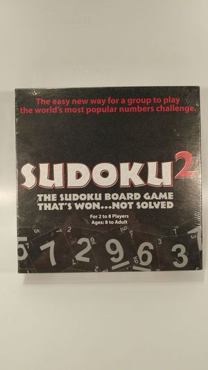 Sudoku 2 Numbers Challenge Board Game Toy NEW for Sale in Cary, NC