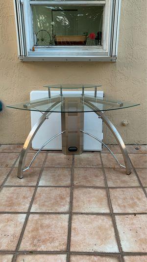 Glass Corner Desk 2 Levels Amazing conditions for Sale in Miami, FL