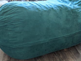 Comfy Sacks 7.5 ft Lounger - Memory Foam Bean Bag Couch/Chair, Aqua Marine Micro Suede for Sale in Seattle,  WA