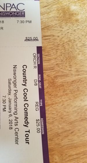 Country Cool Comedy Tour tickets for Sale in Johnson City, TN