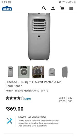 Hisense portable ac unit for Sale in Palmdale, CA