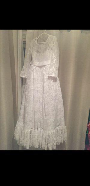 White lace dress Girl size 8-10 for Sale in La Habra, CA