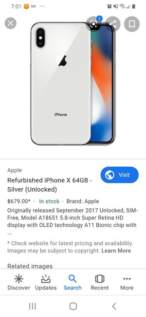 iPhone X at&t (300obo) cab be unlocked to another carrier. for Sale in Philadelphia, PA