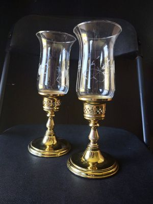 Vintage Princess House Brass Candlestick Holders for Sale in Pleasant Hill, IA