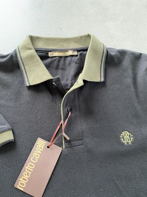 NEW Roberto Cavalli Polo Shirt Olive/ Black size Large MSRP $429 for Sale in Miami, FL