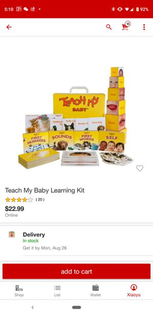 Baby learning kit for Sale in Milpitas, CA