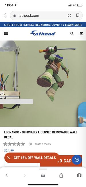 Leonardo removable wall decal for Sale in Chandler, AZ