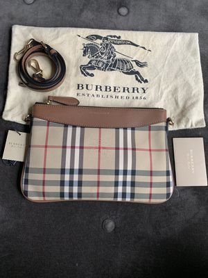 Burberry Horseferry check canvas sling bag for Sale in Weymouth, MA