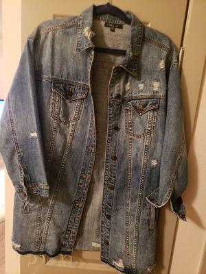 Oversize jean jacket for Sale in Kent, WA