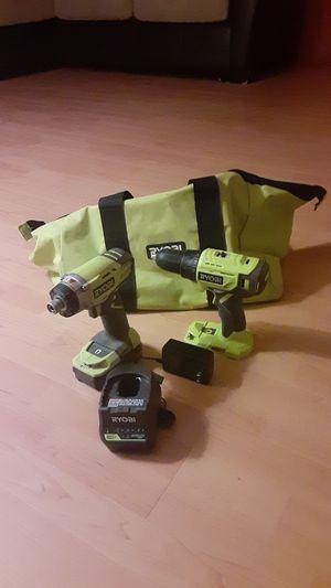 Ryobi 18V Drill/Driver and Impact Set for Sale in Glendale, AZ