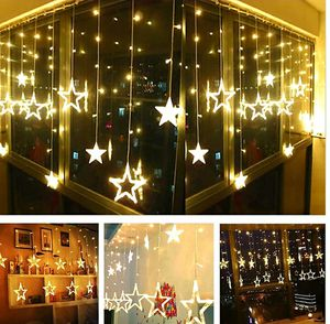 Twinkle Star 12 Stars 138 LED Curtain String Lights, Window Curtain Lights with 8 Flashing Modes Decoration for Christmas, (Warm White for Sale in La Habra Heights, CA