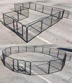 New in box 24 inch tall x 32 inches wide each panel x 16 panels exercise playpen fence safety gate dog cage crate kennel perrera cerca for Sale in Los Angeles,  CA
